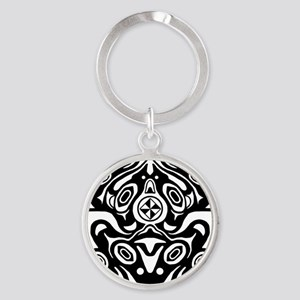 Native American Frog Round Keychain