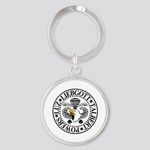 Band of Brothers Crest Round Keychain