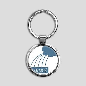 ScienceIsAwesome_dark Round Keychain