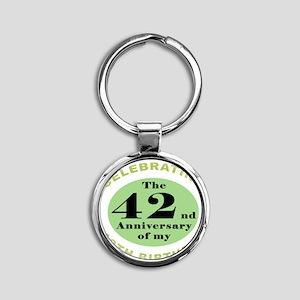 Funny 60th Birthday Round Keychain