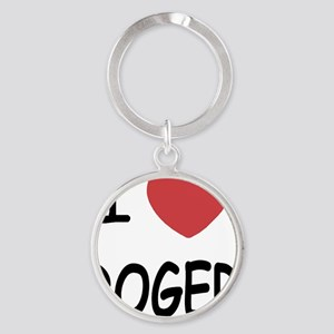 I heart ROGER Round Keychain