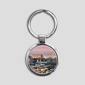 Athens Round Keychain