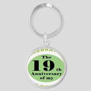 Funny 40th Birthday Round Keychain