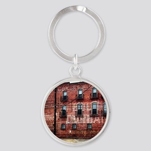 Coca-Cola Ghost Sign Round Keychain