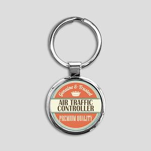 Air Traffic Controller Round Keychain