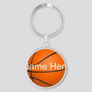 Personalized Basketball Ball Keychains