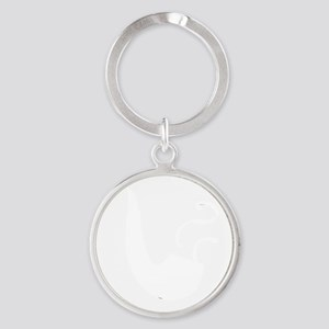pipe smoking - no slogan - white ci Round Keychain
