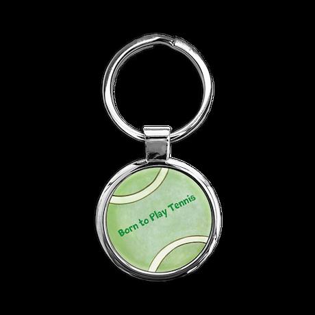 Personalized Tennis Round Keychain