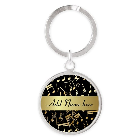 Gold and Black personalized musical notes