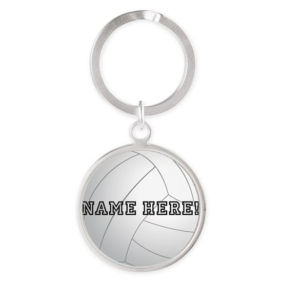 Personalized Volleyball Player Round Keychain