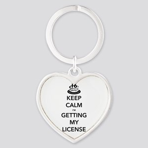 Keep Calm Sweet 16 Heart Keychain