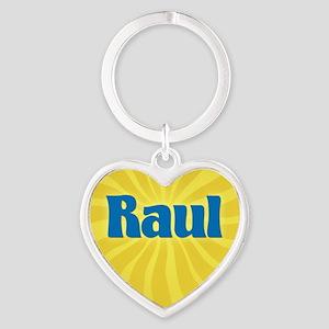 Raul Sunburst Heart Keychain