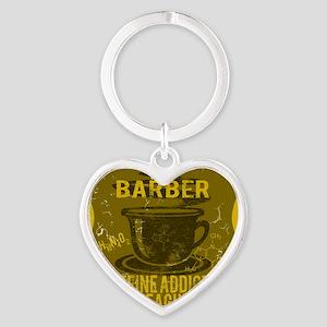 BARBER Heart Keychain