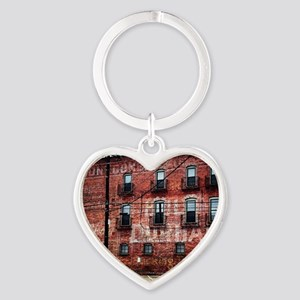 Coca-Cola Ghost Sign Heart Keychain