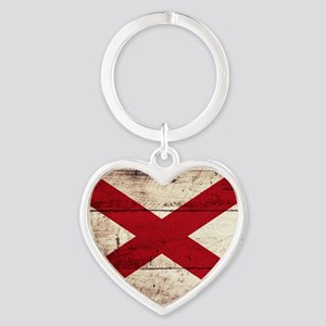 Wooden Alabama Flag3 Keychains