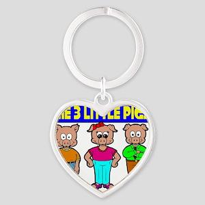 3 Little Pigs Heart Keychain