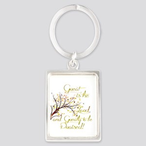 Great is the Lord Keychains