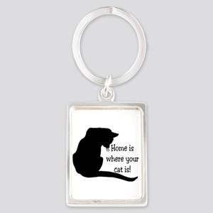 Home Cat Portrait Keychain