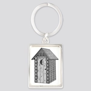 Outhouse-shirt Portrait Keychain