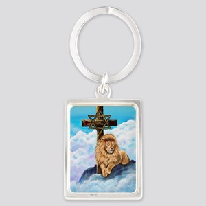 Messianic Art Portrait Keychain