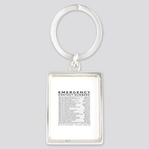 bible emergency number Keychains