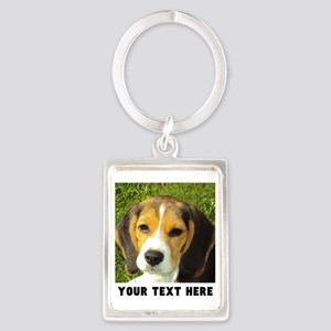 Dog Photo Personalized Portrait Keychain