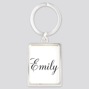 Personalized Black Script Keychains
