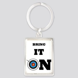 Bring It On Archery Target Keychains