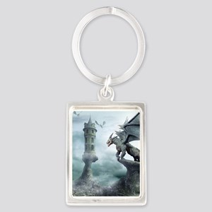 Tower Dragons Portrait Keychain