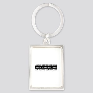 Air Traffic Controllers Designs Portrait Keychain