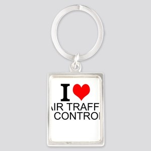 I Love Air Traffic Control Keychains