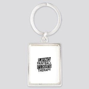 Awesome Paint Ball Player Design Portrait Keychain