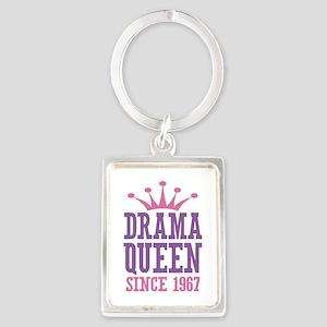 Drama Queen Since 1967 Portrait Keychain