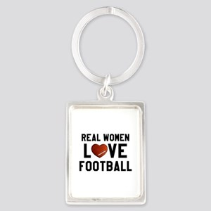 Real Women Love Football Keychains