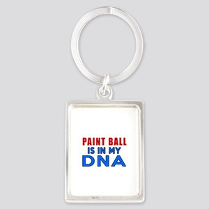 Paint Ball Is In My DNA Portrait Keychain