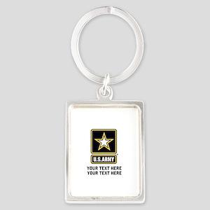 US Army Star Portrait Keychain
