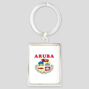 Aruba Coat Of Arms Designs Portrait Keychain