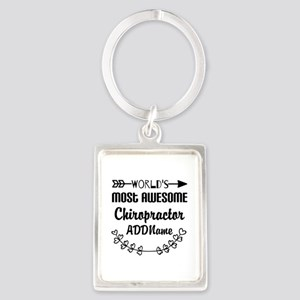 Personalized Worlds Most Awesome Portrait Keychain