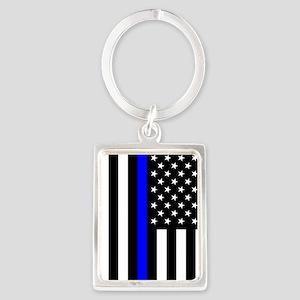 U.S. Flag: Thin Blue Line Keychains