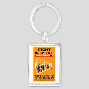 Fight Injustice Portrait Keychain