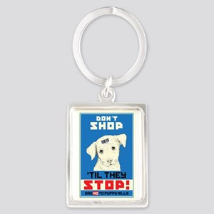 Say No To Puppy Mills Portrait Keychain