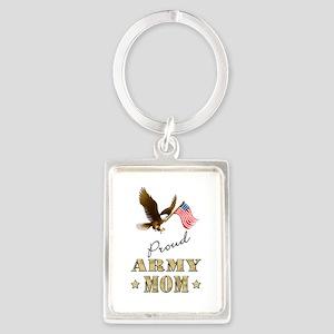 Proud Army Mom - Eagle Flag Keychains