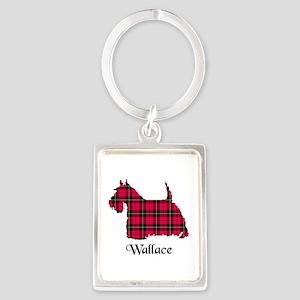 Terrier-Wallace Portrait Keychain