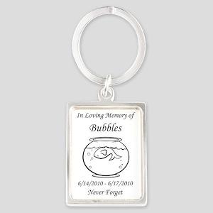 bubblesflatbig Portrait Keychain