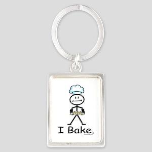 Baking Stick Figure Portrait Keychain