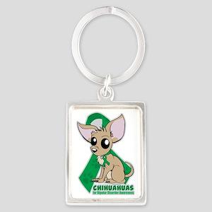 Chihuahuas for Bipolar Disorder  Portrait Keychain