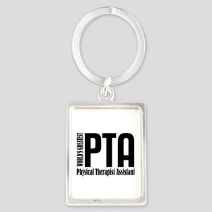 Physical Therapist Assistant Portrait Keychain