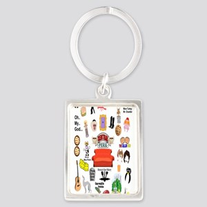 Friends TV Quote Collage Keychains