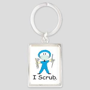 Surgical Tech Stick Figure Portrait Keychain