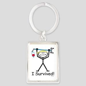 Chemo Survivor Portrait Keychain